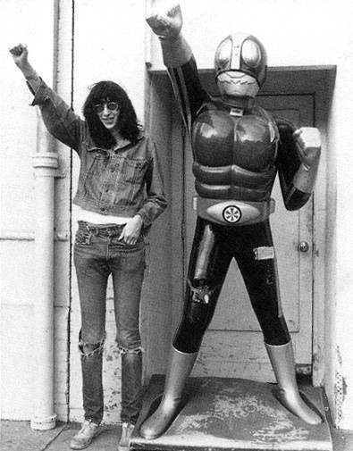 Joey Ramone & Kamen Rider Transformer (Little Toyko, Los Angeles, USA 1977)